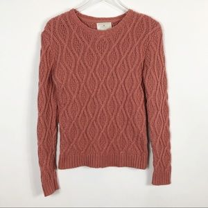 Ruby Moon Cable Knit Crew Neck Sweater Medium